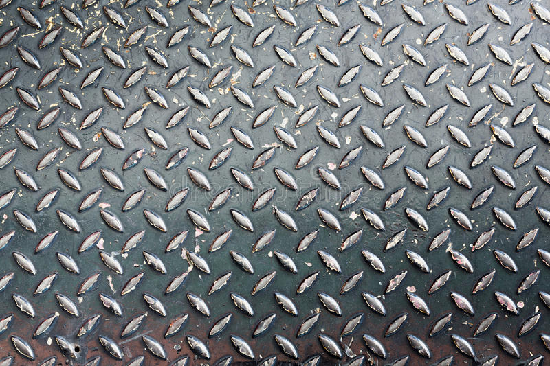 Grunge diamond metal plate texture royalty free stock photo