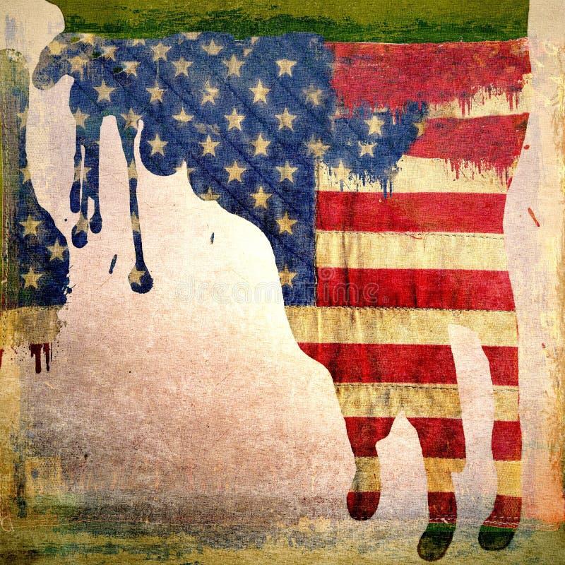 Grunge Die Amerikaanse Vlag Druipt Royalty-vrije Stock Afbeelding