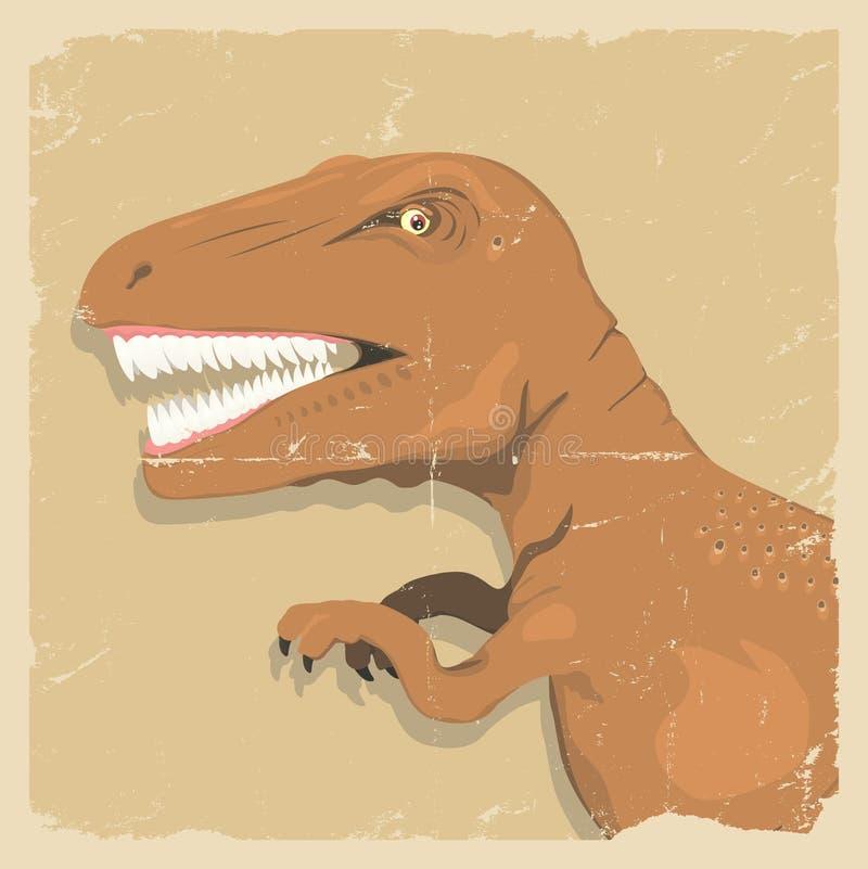 Grunge Dinosaura Tło ilustracji