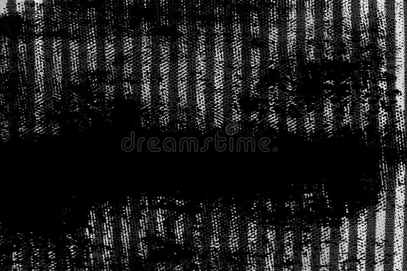Grunge dirty Black and white closeup of stripped fabric texture royalty free stock photo