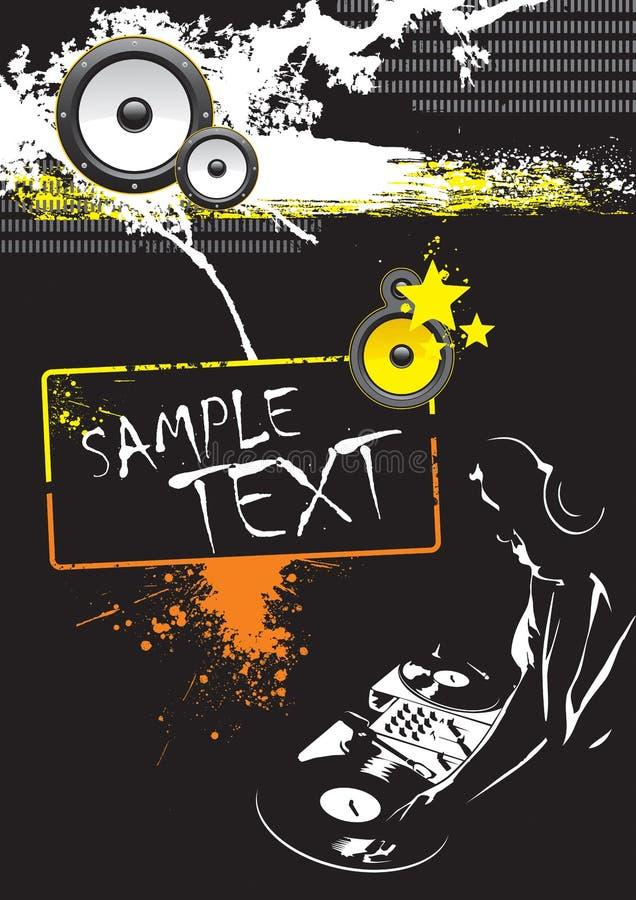 Grunge DJ Party Poster Design vector illustration