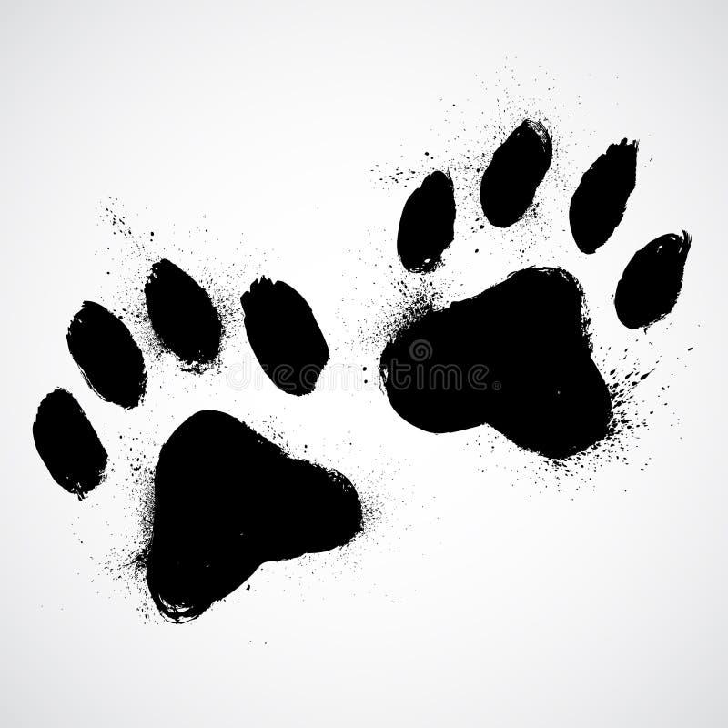 Download Grunge dog paws stock illustration. Illustration of cartoon - 29104333