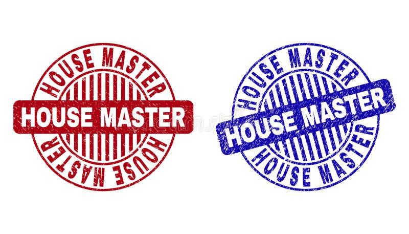Grunge domu mistrza Round Porysowani Watermarks ilustracji