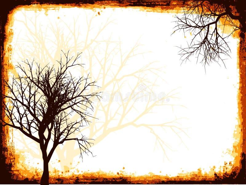 grunge drzewo ilustracja wektor
