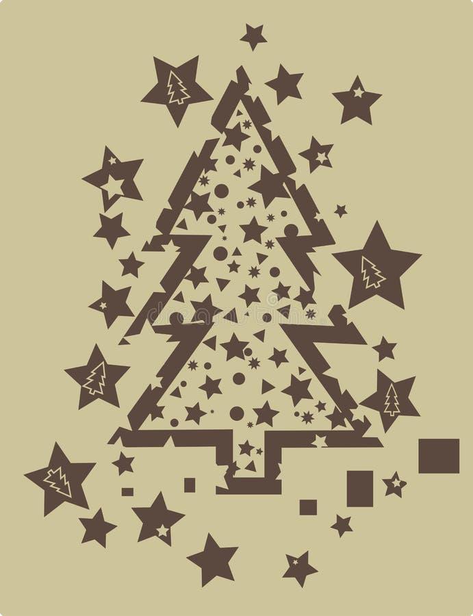 grunge drzewo bożego narodzenia royalty ilustracja