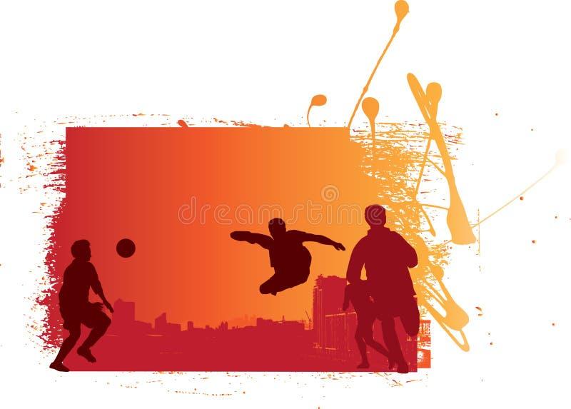 grunge du football illustration stock