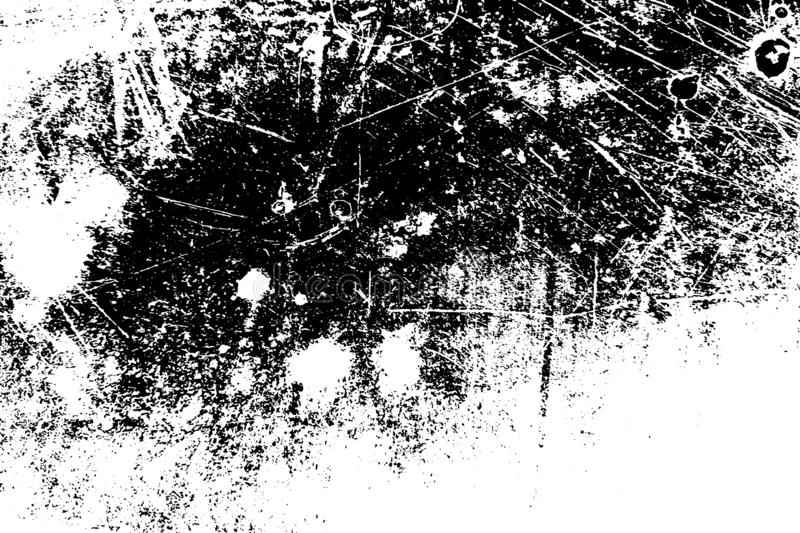 Distress Overlay Texture. Grunge dust messy background. Aged splatter crumb wall backdrop. Distressed grainy spray overlay texture. Dirty powder rough empty stock illustration
