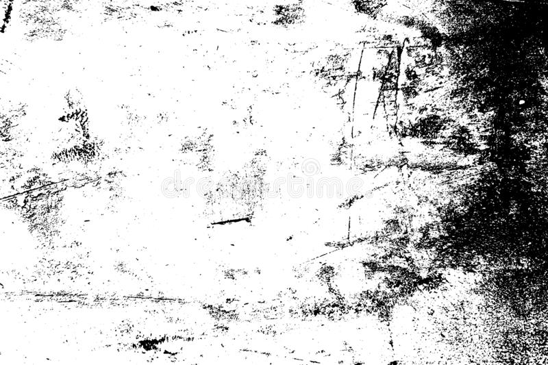 Distress Overlay Texture. Grunge dust messy background. Aged splatter crumb wall backdrop. Distressed grainy spray overlay texture. Dirty powder rough empty royalty free illustration