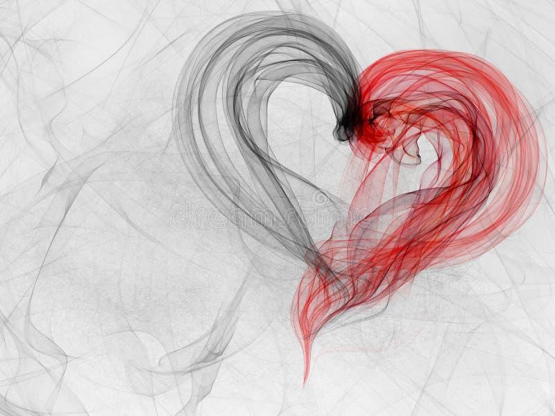 Grunge dymny tło z sercem royalty ilustracja