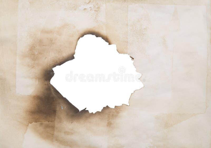 grunge dziurę papieru zdjęcia stock