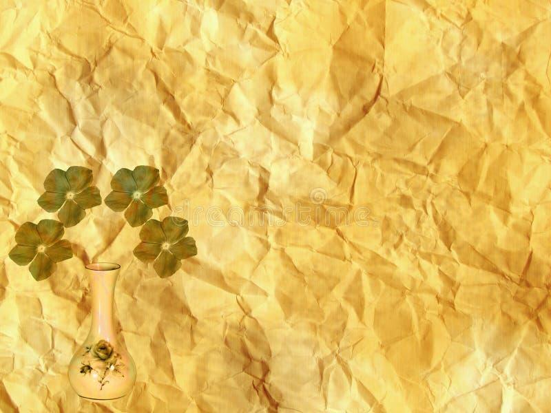Projeto velho do vaso do fundo de papel do Grunge fotografia de stock