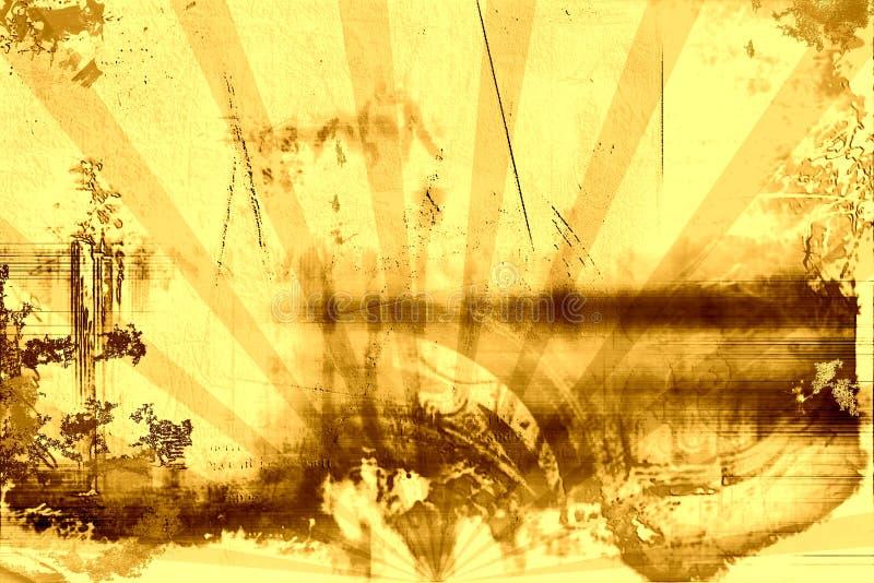 Grunge ed annata arrugginita illustrazione vettoriale