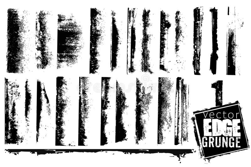 Grunge Edges Collection royalty free illustration
