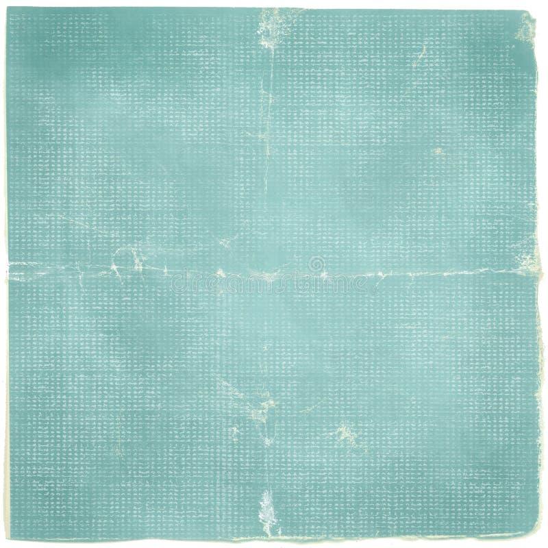 Grunge Eenvoudige Neutrale Gescheurde Document Blauwe Gevouwen Achtergrond royalty-vrije stock afbeelding