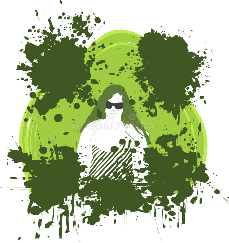 Download Grunge Effect With Woman Stock Photography - Image: 2321592
