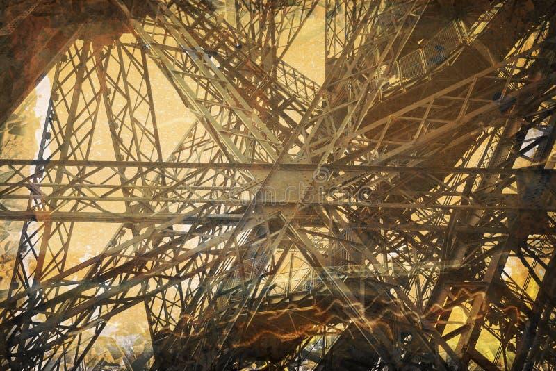 Grunge Eiffel Tower Royalty Free Stock Photos
