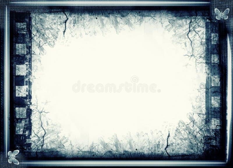 Grunge ekranowa rama z przestrzenią dla teksta lub wizerunku royalty ilustracja