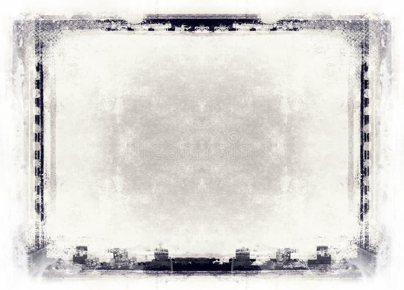 Grunge ekranowa rama z przestrzenią dla teksta lub wizerunku ilustracji