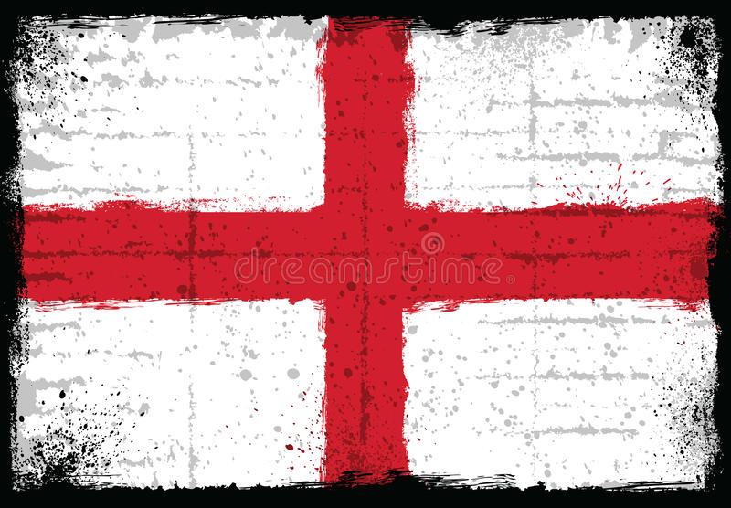 Grunge elements with flag of England. stock image