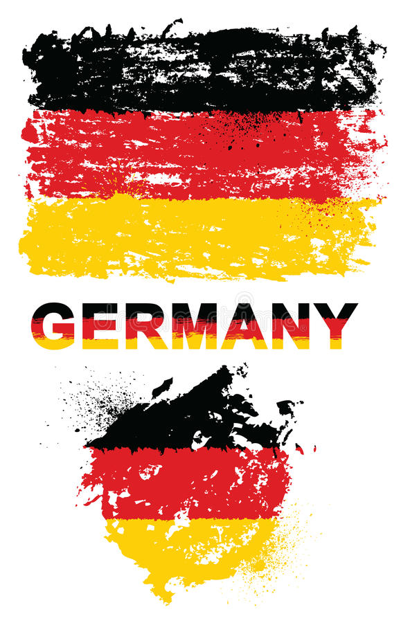Grunge elements with flag of Germany. stock photos