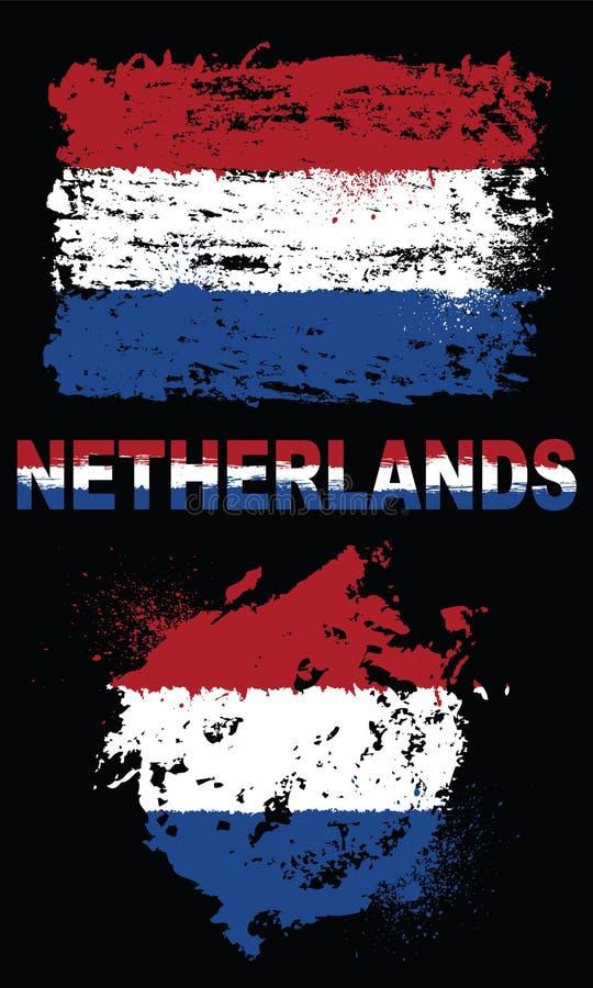 Grunge elementy z flaga holandie zdjęcia stock