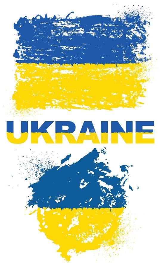 Grunge elementy z flaga Ukraina zdjęcia stock
