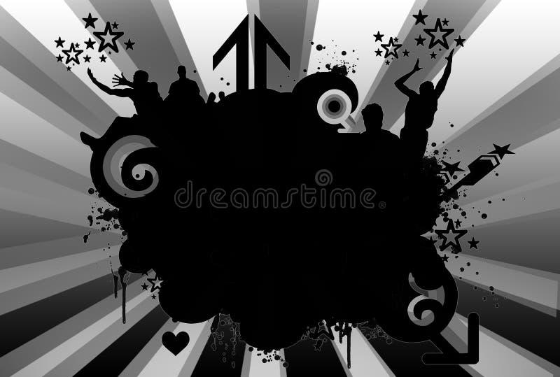 Grunge emblem royaltyfri illustrationer