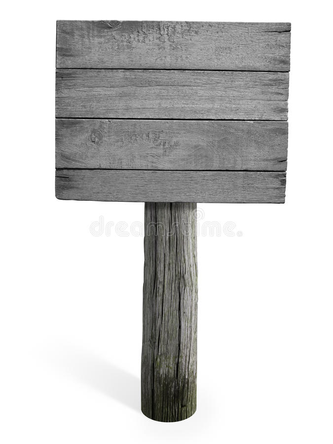 Grunge empty wooden sign or signboard. Grunge empty wooden signboard isolated on white background stock photos