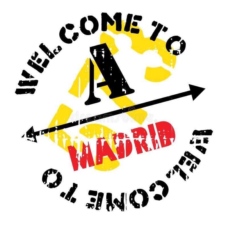 Grunge en caoutchouc de timbre de Madrid illustration libre de droits