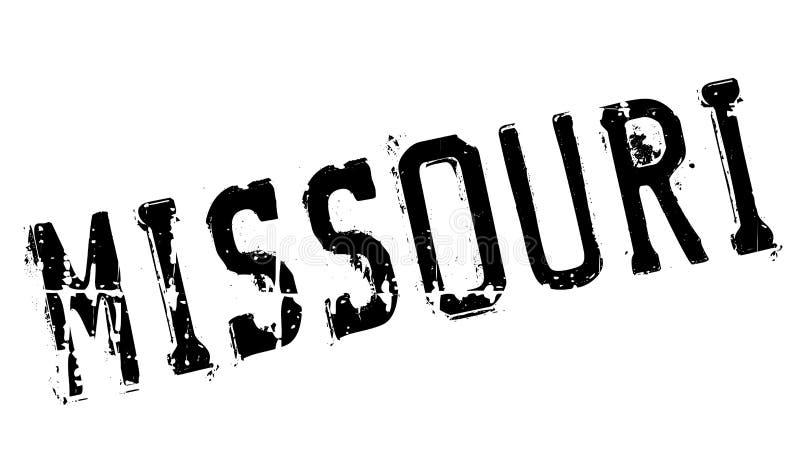 Grunge en caoutchouc de timbre du Missouri image stock