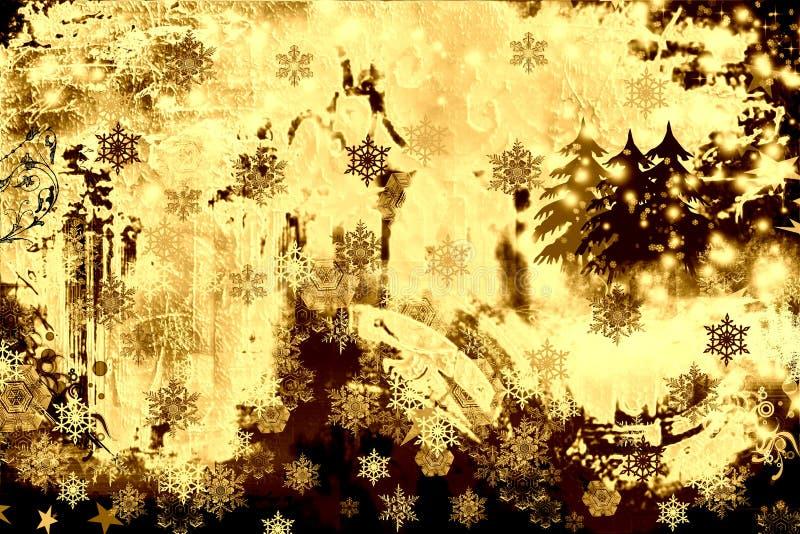 Grunge en de roestige winter royalty-vrije illustratie
