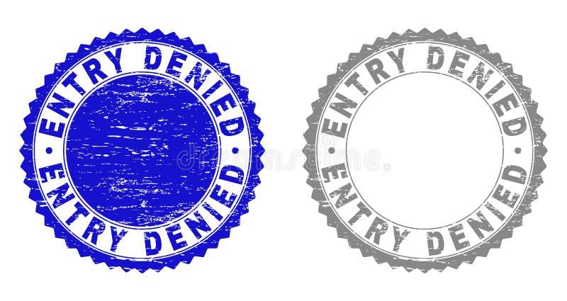Grunge ENTRY DENIED Textured Stamp Seals vector illustration