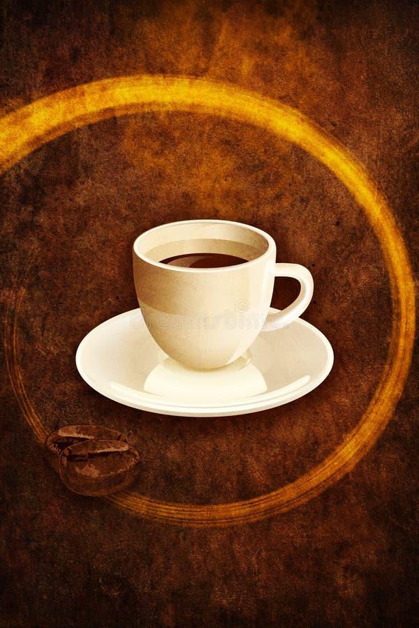 grunge espresso иллюстрация вектора