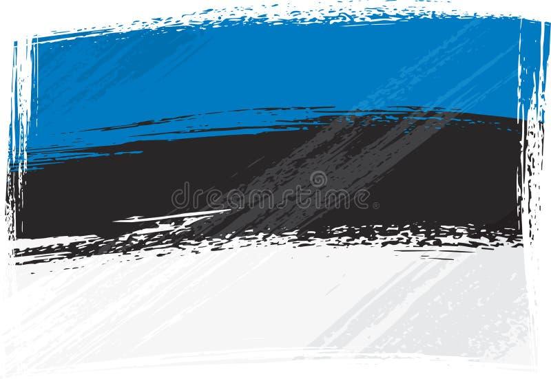 Grunge Estland Markierungsfahne vektor abbildung
