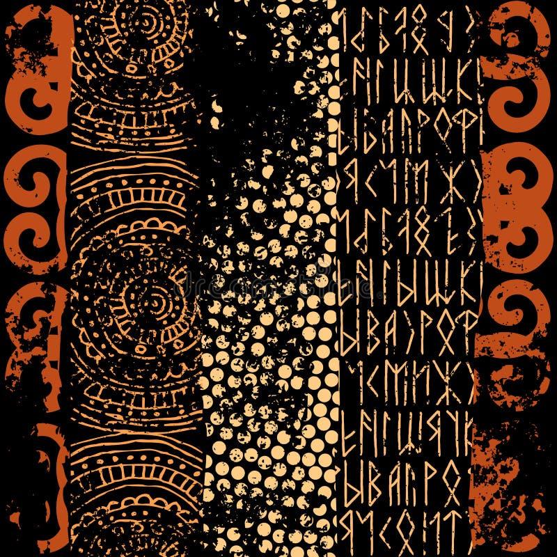 Grunge ethnic pattern stock illustration