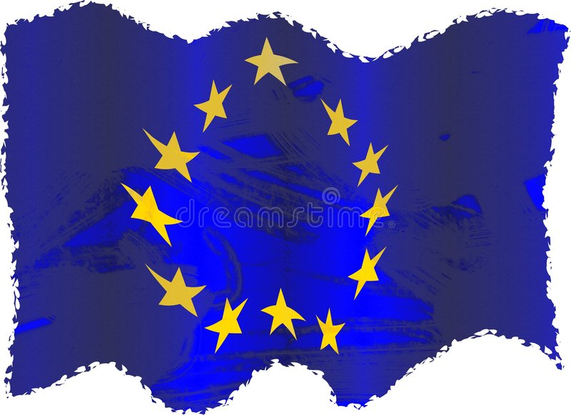 Grunge europe vector illustration