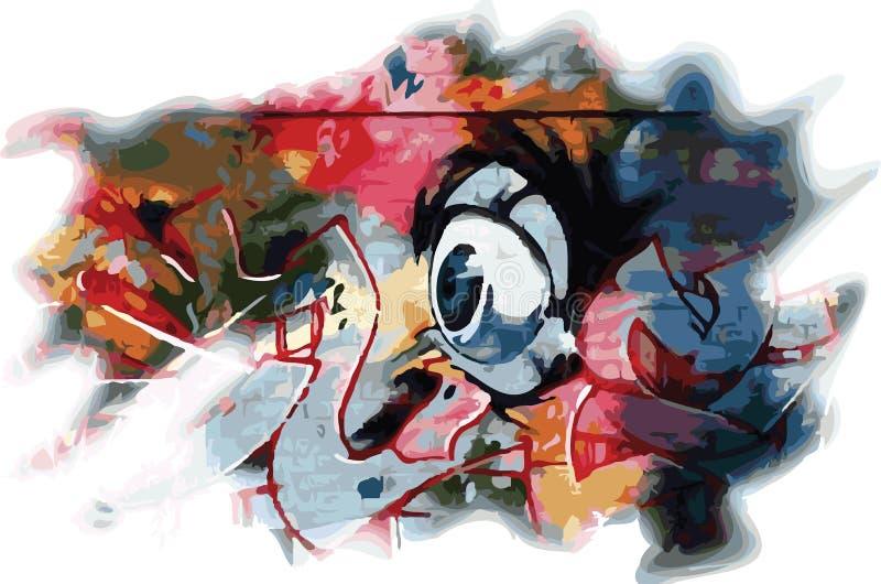 Grunge eye color vector illustration