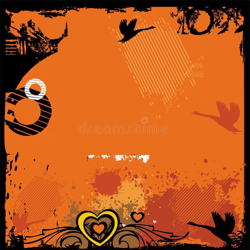 grunge för 2 bakgrund stock illustrationer