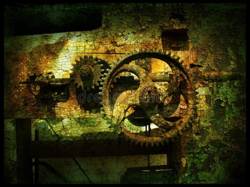 grunge för 3 kugghjul arkivbild