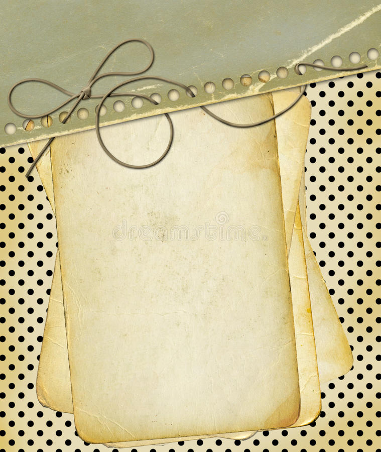 grunge för bakgrundsdesignpricken papers polka royaltyfri illustrationer