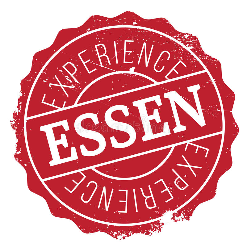 Grunge för Essen stämpelgummi royaltyfri illustrationer