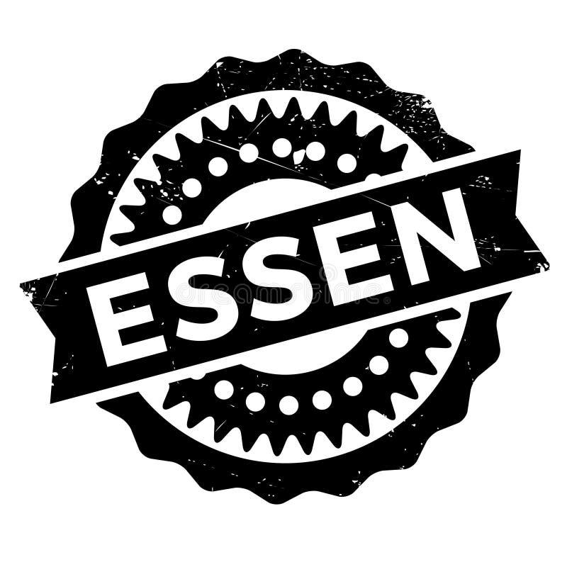 Grunge för Essen stämpelgummi stock illustrationer