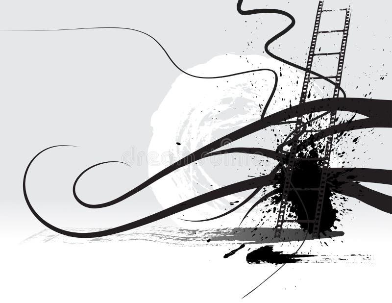 grunge för filmram vektor illustrationer