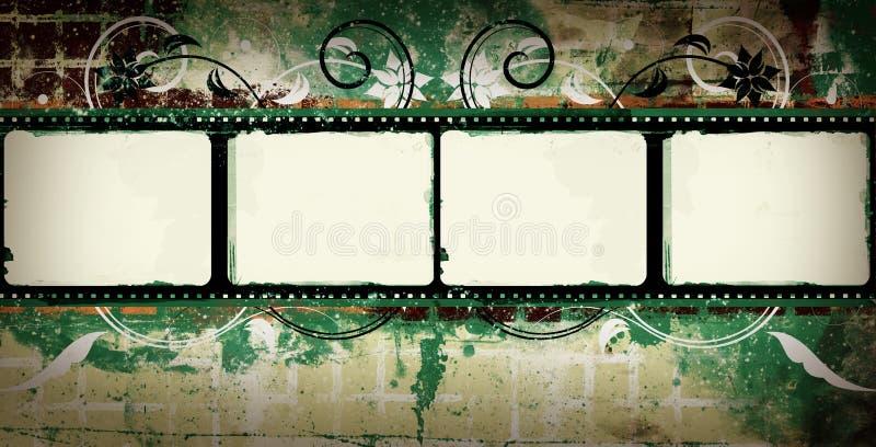 grunge för filmram royaltyfri illustrationer