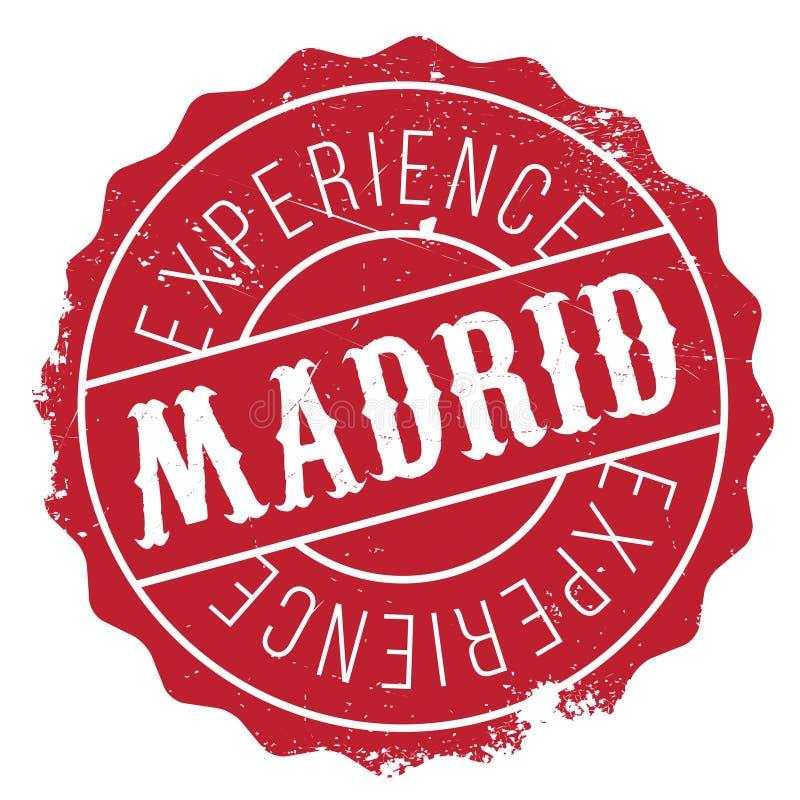 Grunge för Madrid stämpelgummi royaltyfri illustrationer