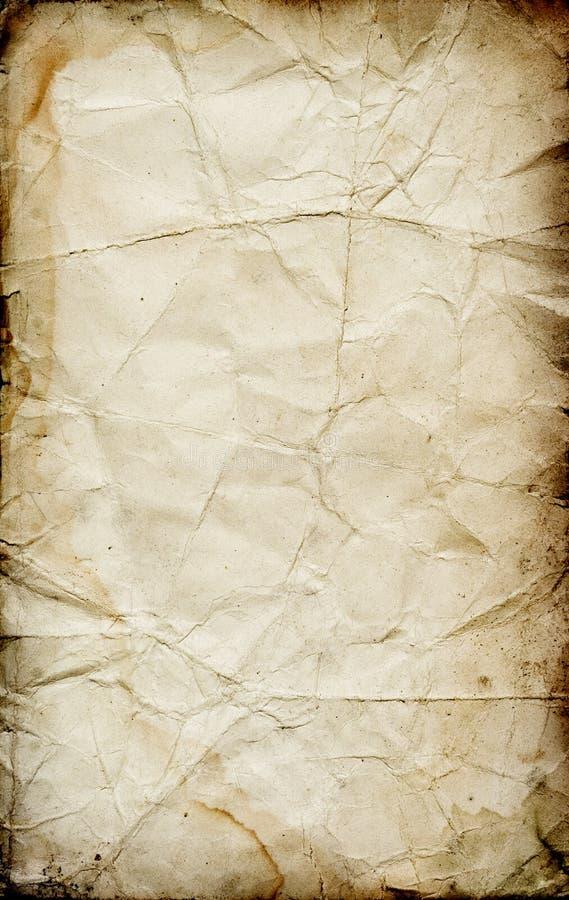 grunge fałdowa papieru konsystencja obrazy stock