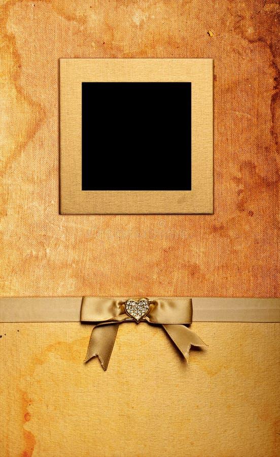 Grunge Fabric Photo Frame Royalty Free Stock Photo