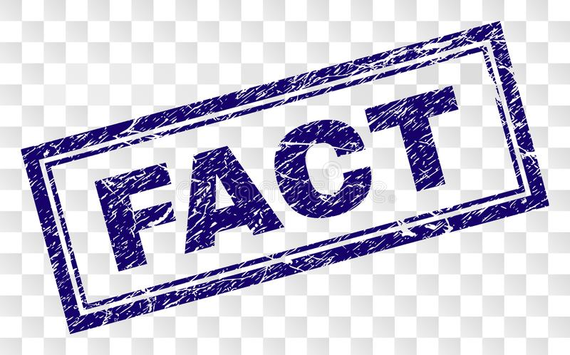 Grunge fact prostokąta znaczek royalty ilustracja
