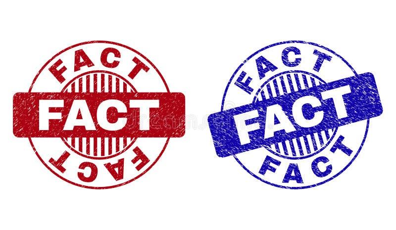 Grunge fact Textured Woko?o znaczk ilustracji