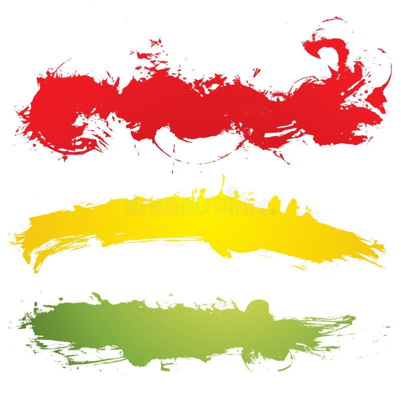 Grunge Fahne stock abbildung